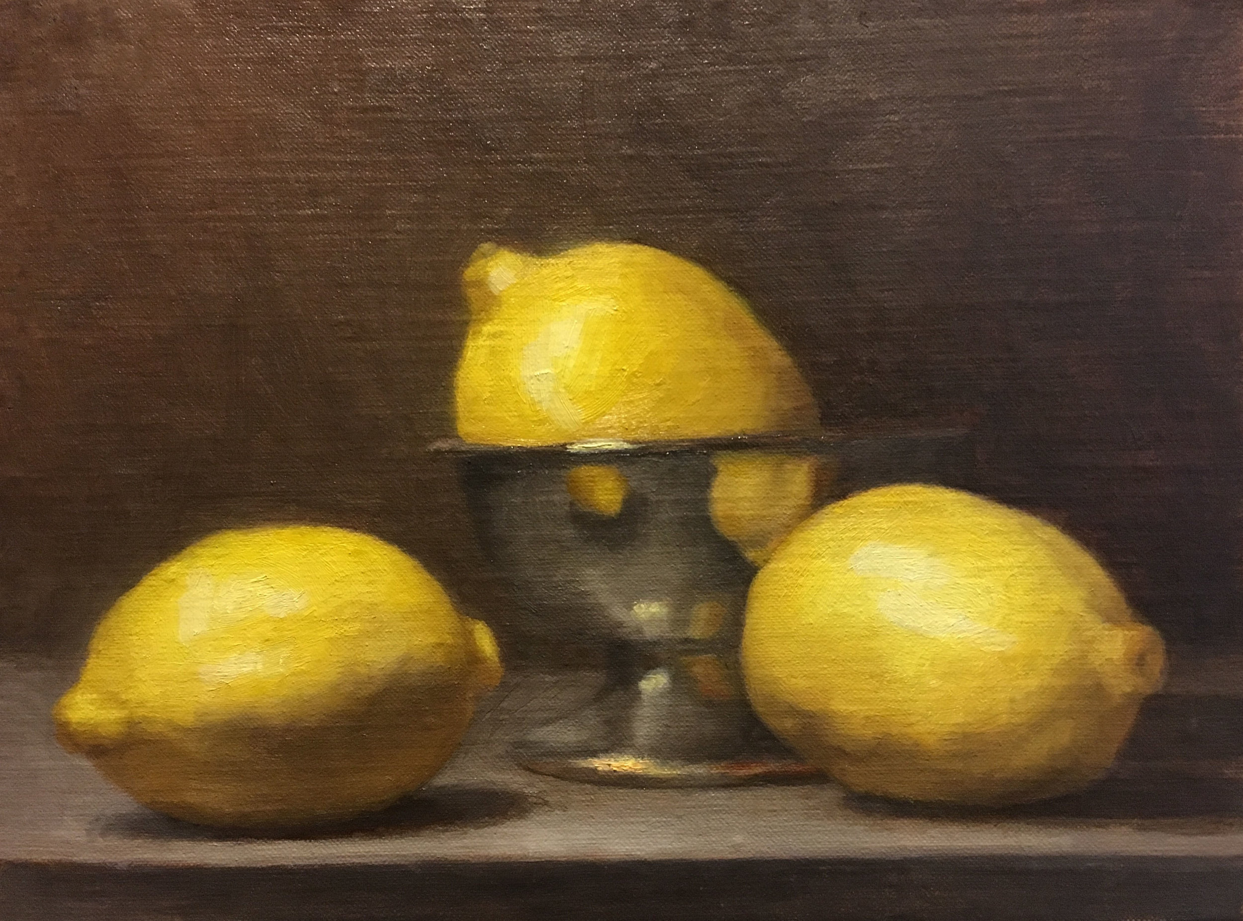 Lemons,  2016, oil on canvas, 6 x 8 in. Private collection.