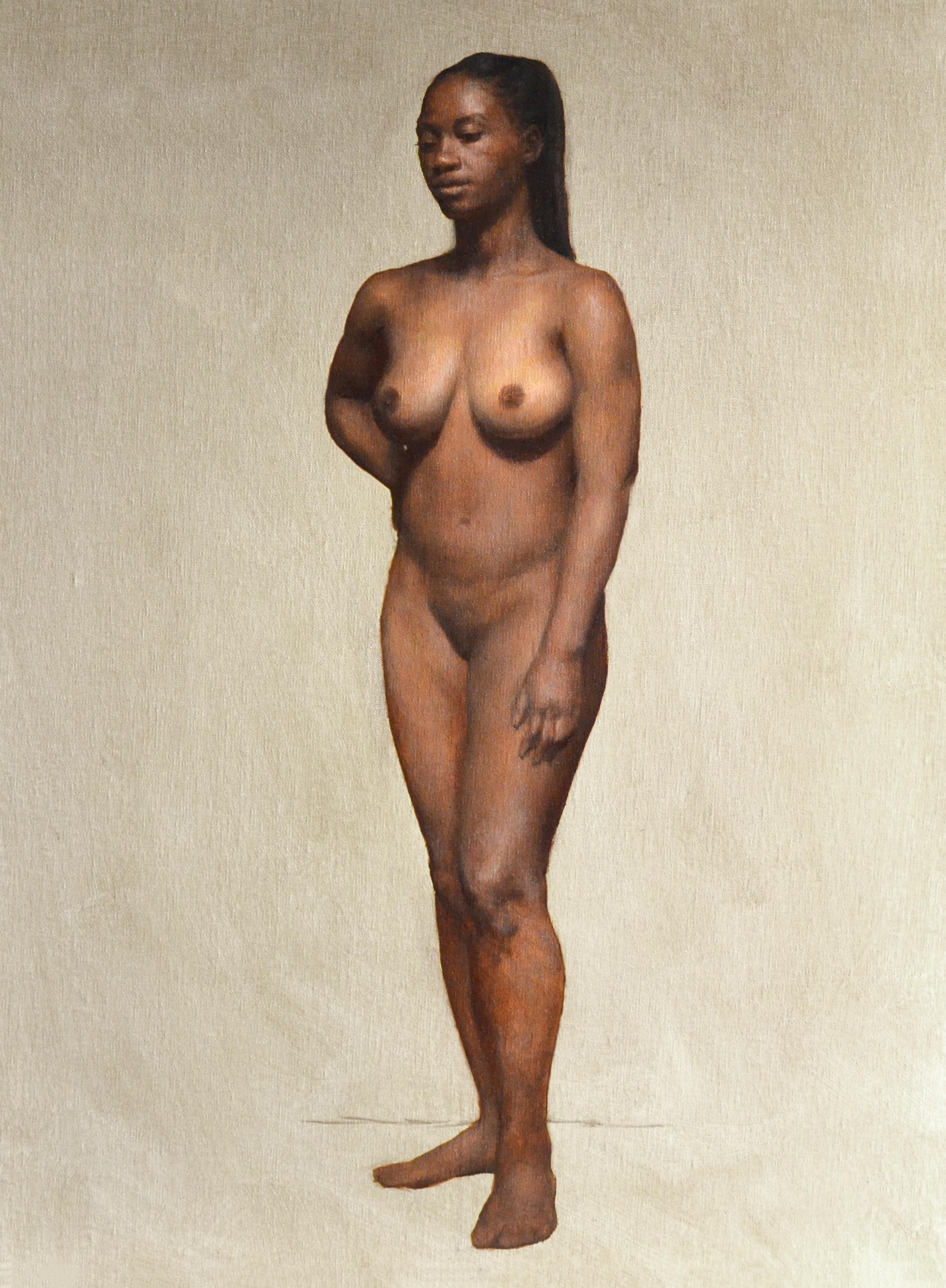 Fatima,  2017, oil on canvas, 18 x 24 in. Private collection.