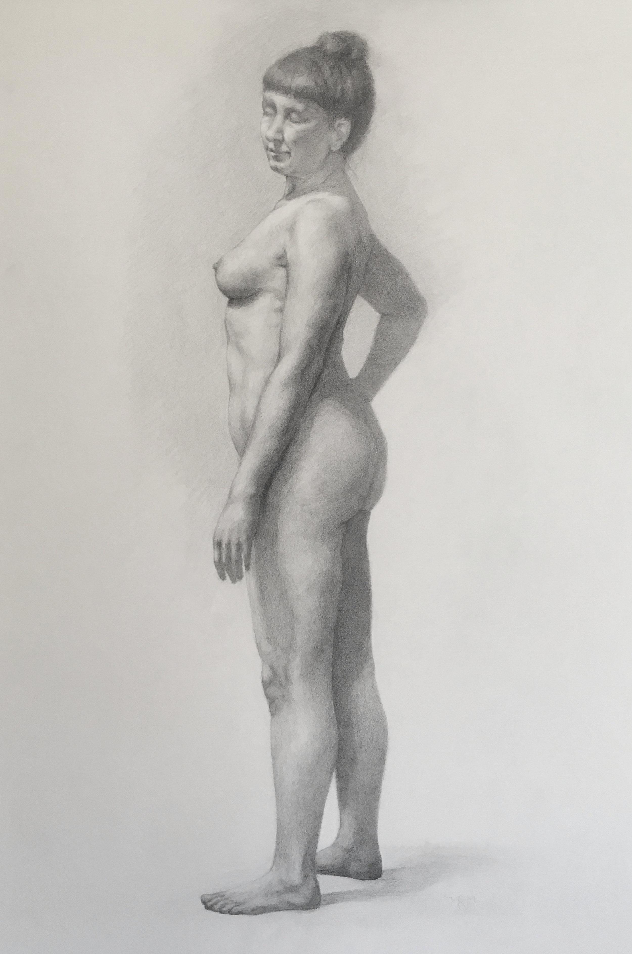 Jen , 2016, graphite on paper, 18 x 24 in.