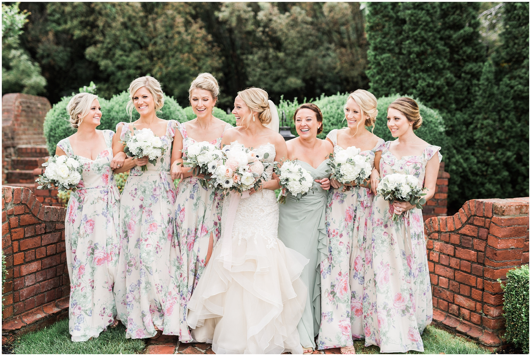 Aren't these bridesmaid dresses (and stunning bridesmaids!!) EVERYTHING?! So unique and stunning.