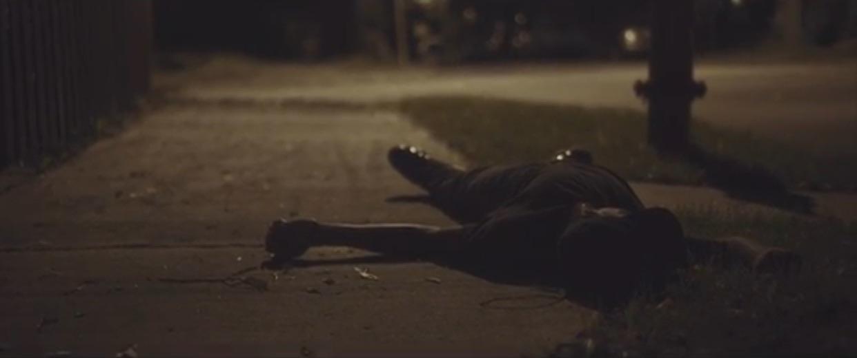 """Still taken from the short film, """" Angels Walk """" by Brain Few Jr."""