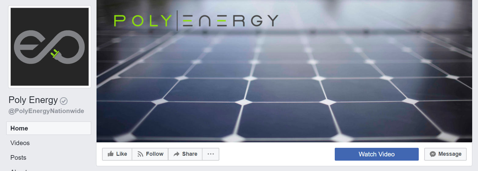Poly Energy - Going Solar is a no-brainer. Check out Poly Energy's Facebook and Google accounts to find out so many of your neighbors are making the switch.