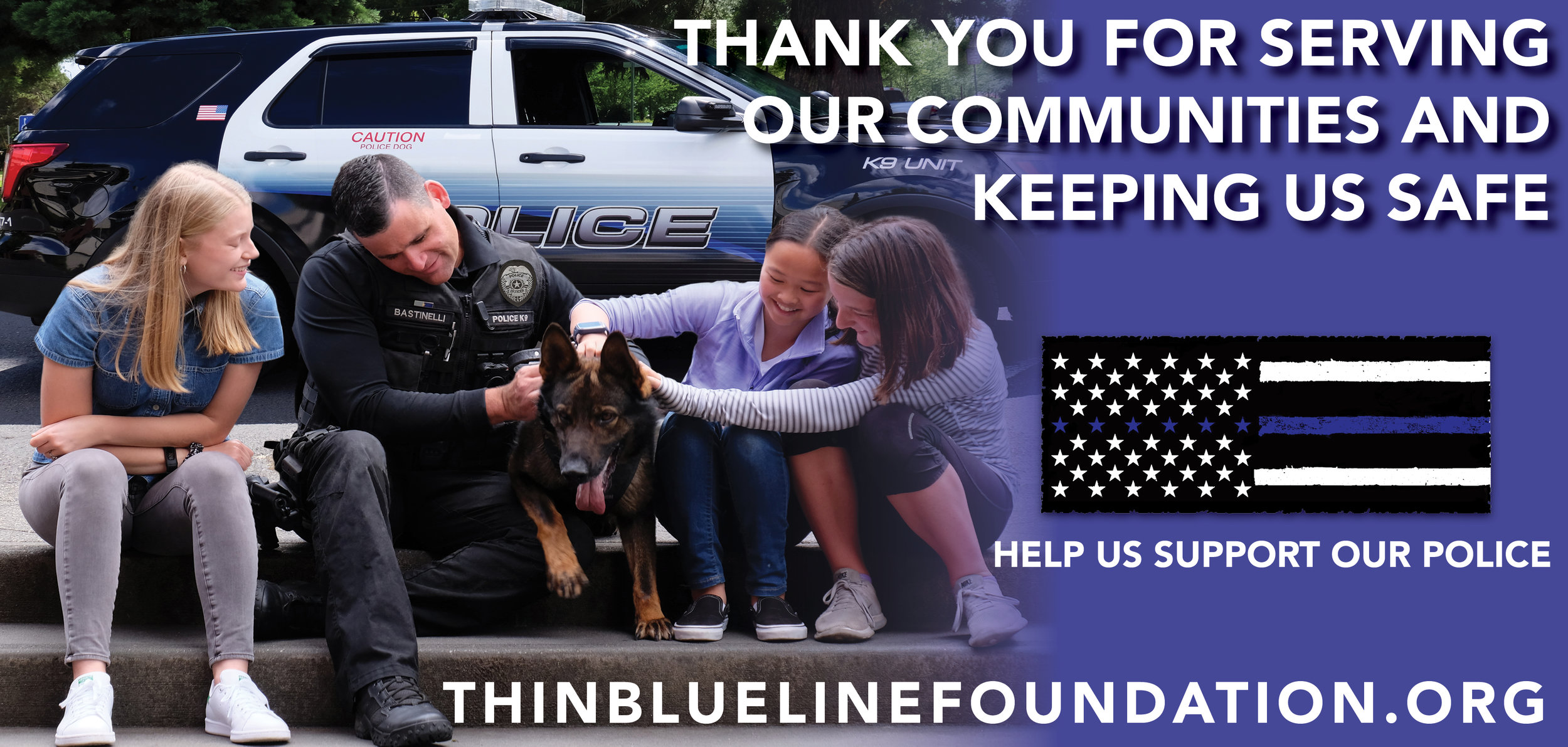 "The Thin Blue Line Foundation launched a ""Thank You For Your Service"" electronic billboard campaign in various cities throughout Oregon this week.  We are so thankful for the brave men and women serving in law enforcement that keep our communities safe.  We would like to run these ads nationwide.  If you are interested in partnering with us in your community, please contact us.    Below is a photo of one of the billboards in Beaverton, Oregon"