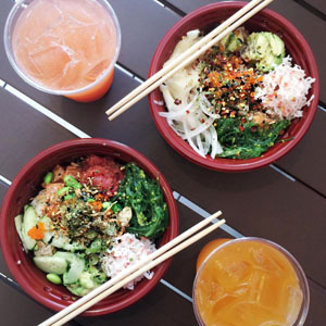 Poke Bar : Fast & convenient shouldn't have to mean unhealthy. e want your Poke meal to be just what you want so we offer a cafeteria-style outpost featuring build-your-own w/varied fish, toppings & sauces. Find us on   Yelp ,  Instagram  (@poke_bar) ,    Facebook  .