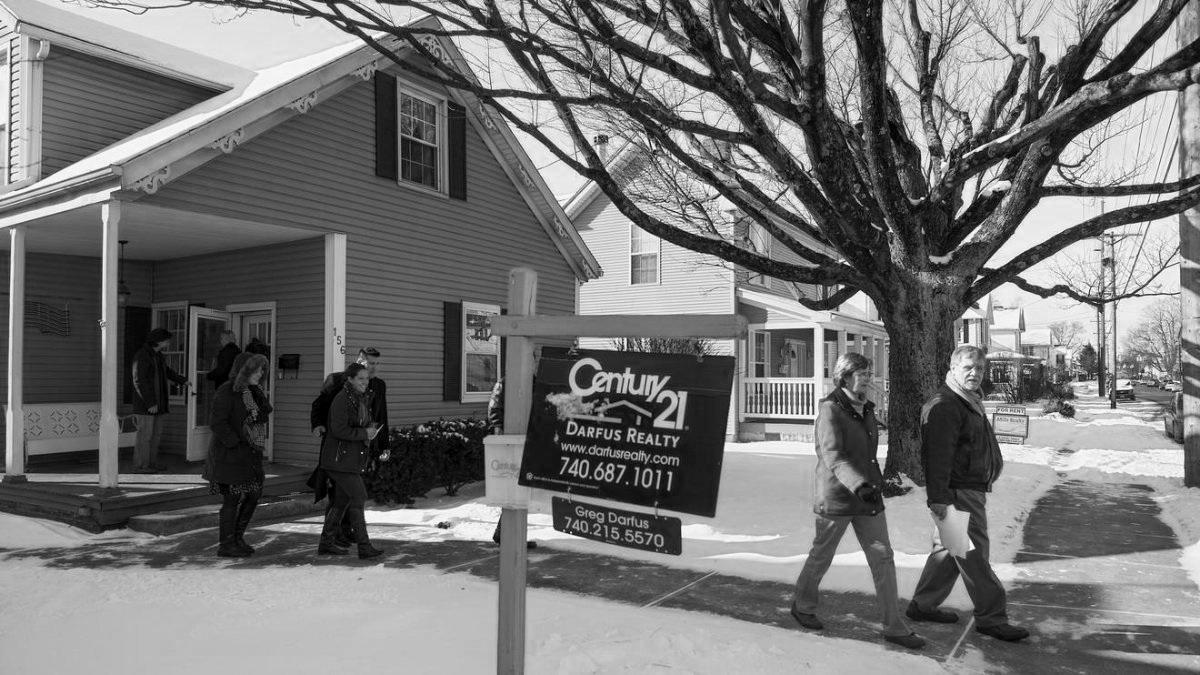 Stumblin' & bumblin' existing home sales. -