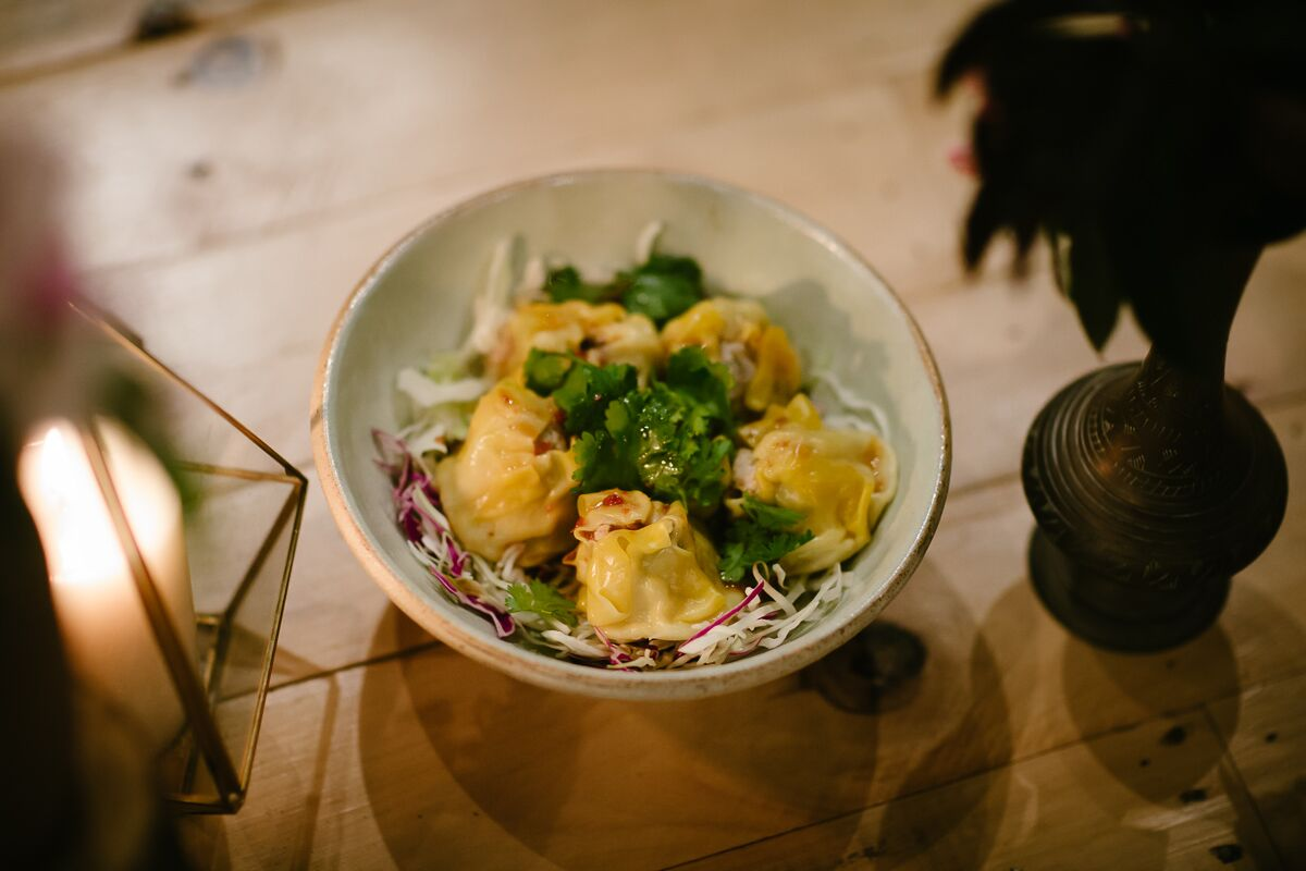 sui mai chicken and cashew dumplings