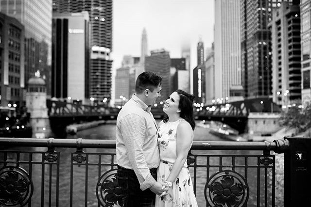 Danielle and Gabe are getting married tomorrow! . . . . #chicagoengagementphotographer #chicagoengagement #bridetobe #modernbride #junebugweddings #theknotchicago #chicagobridges
