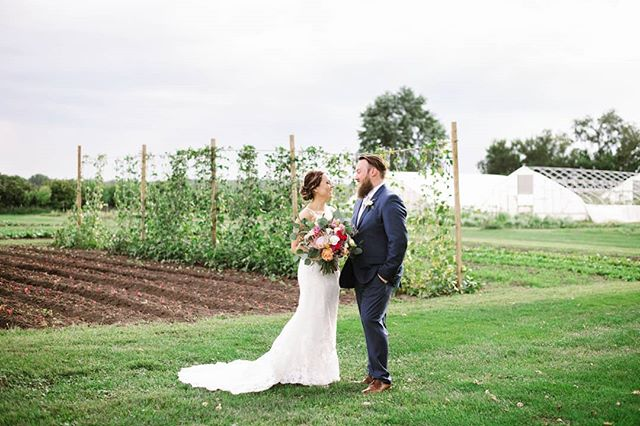 Stephanie and Brian having a couple of moments laughing after their beautiful ceremony @heritageprairiefarm . I loved being apart of this day and getting to watch all the fun!