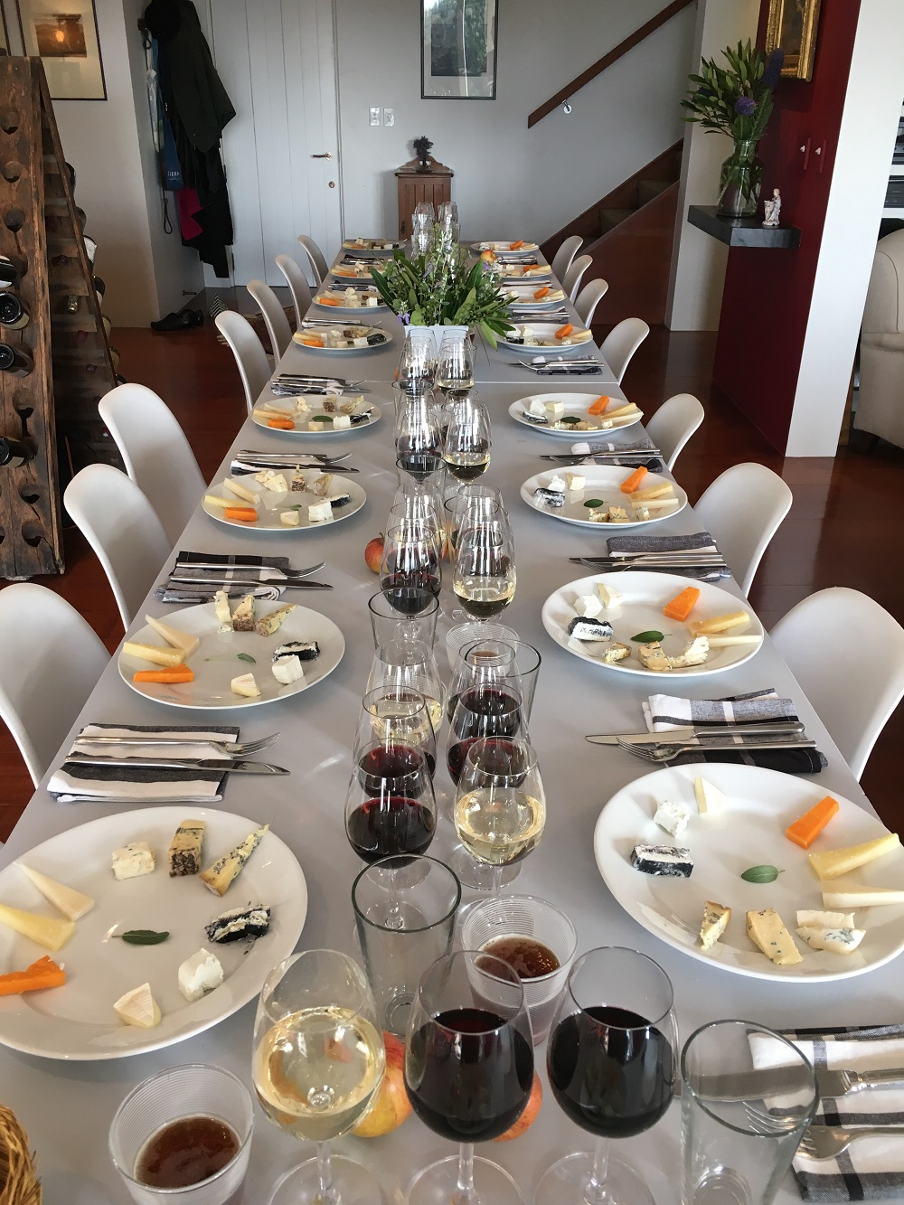 Cheese Tasting Table Setting
