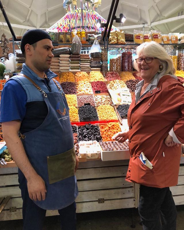 Moscow - even better than I had imagined- great market with food from across Russia including these dried fruit and nuts #lovefood #huntergatherertours