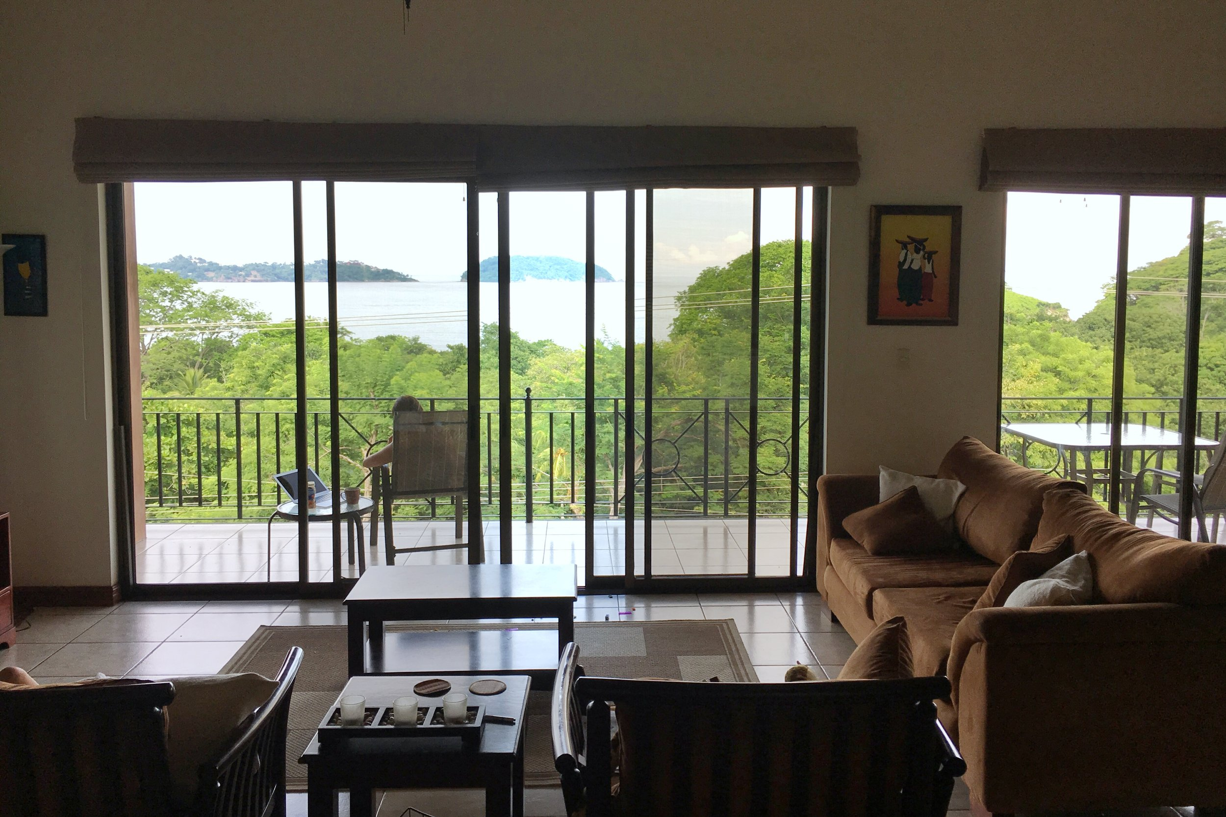 The inside of our first home in Costa Rica.