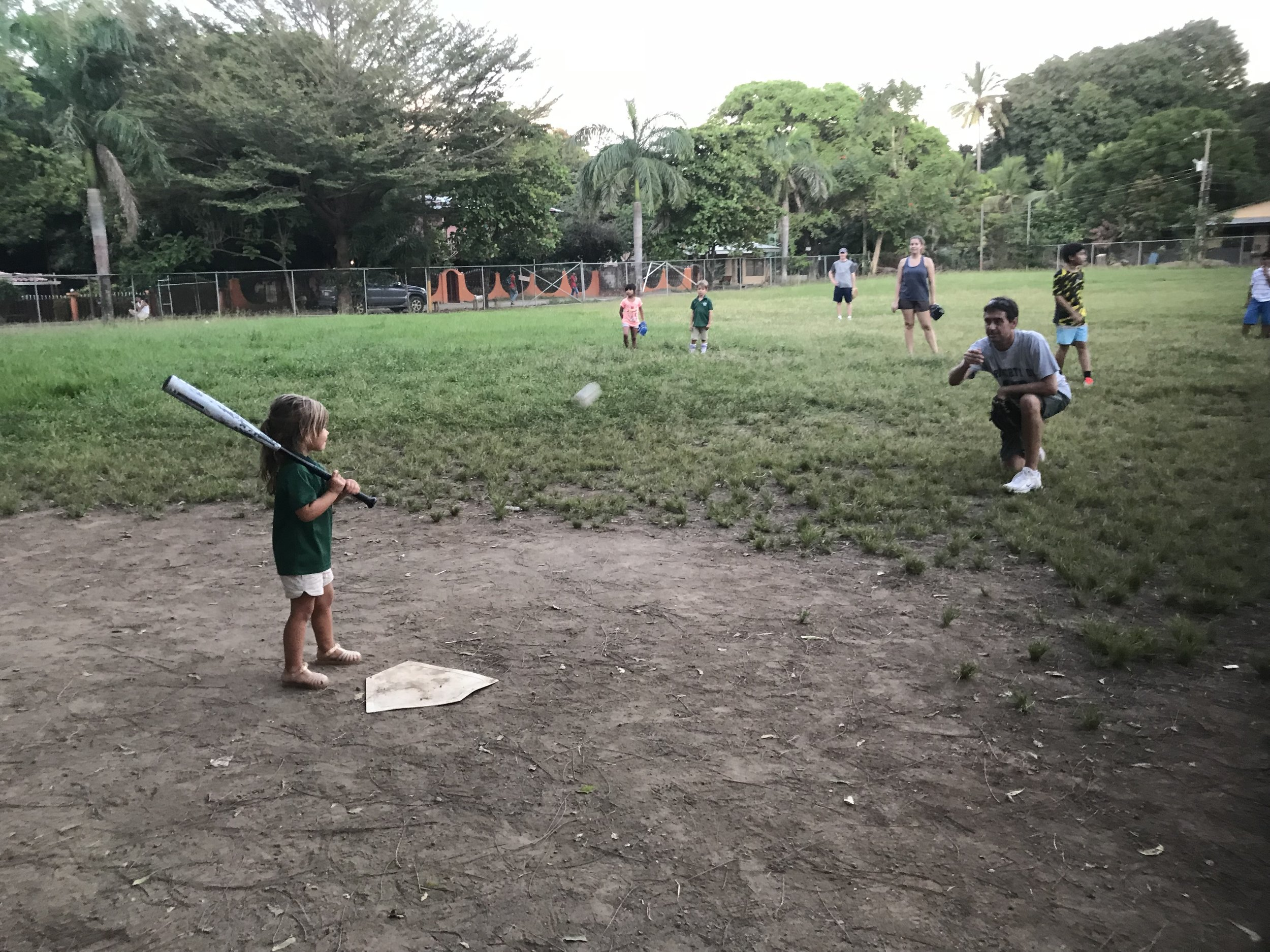 SKIPPING TEES, HELMETS, CLEATS AND A SMALLER BAT. STARTING OFF IN THE BIG LEAGUES.