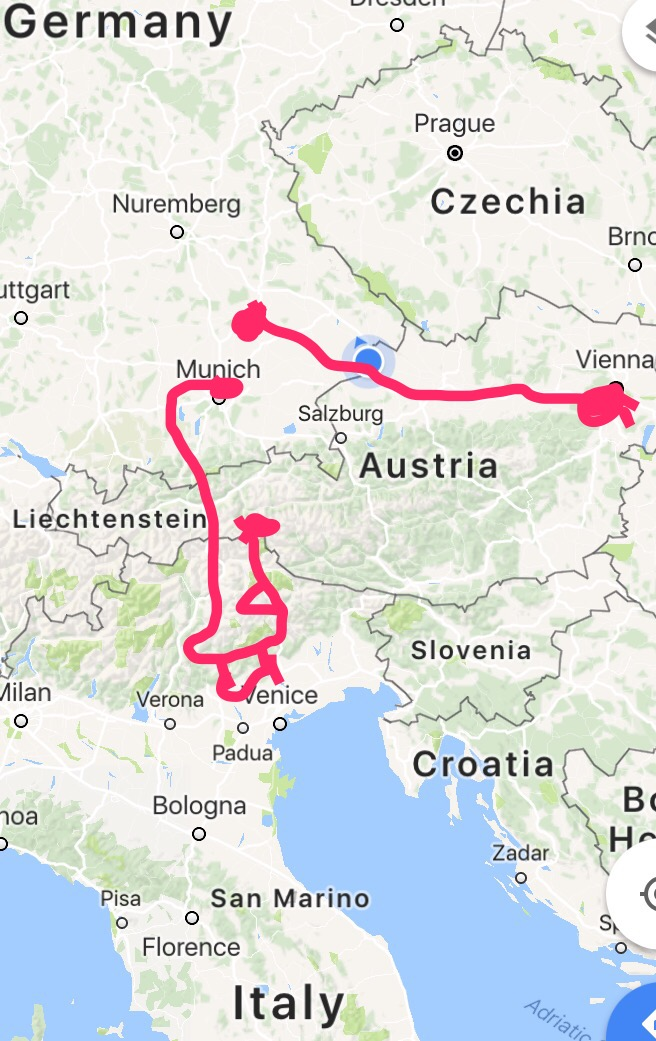 The precision map of my route 😂 You get the idea!