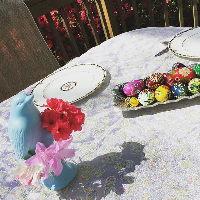 Easter brunch on the deck - it's a perfect day for it!