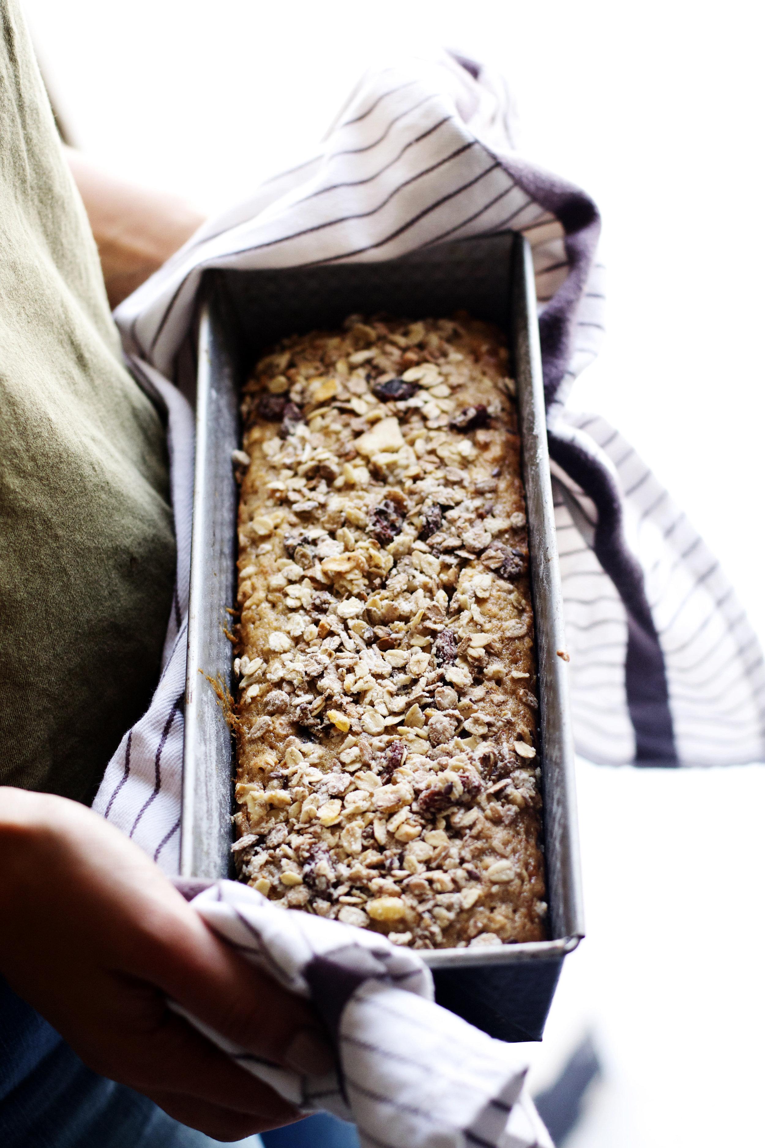 Maple Muesli Banana Bread | Ruby Josephine