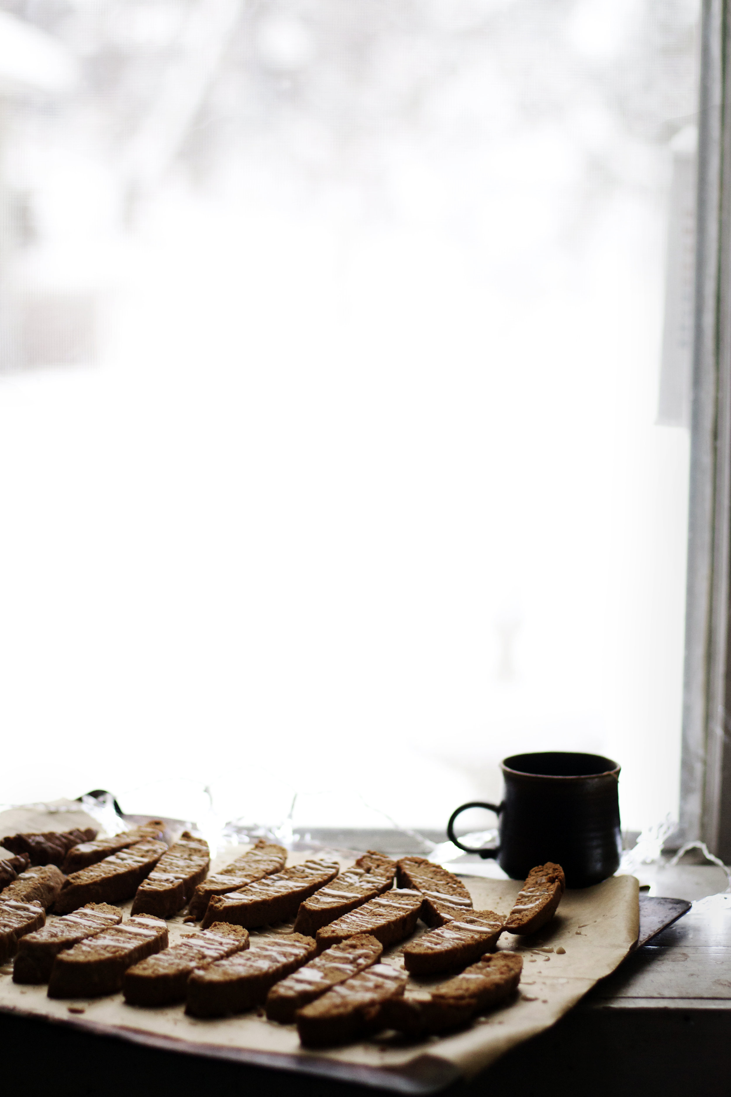 Maple-Glazed Chai Biscotti with Candied Ginger | Ruby Josephine