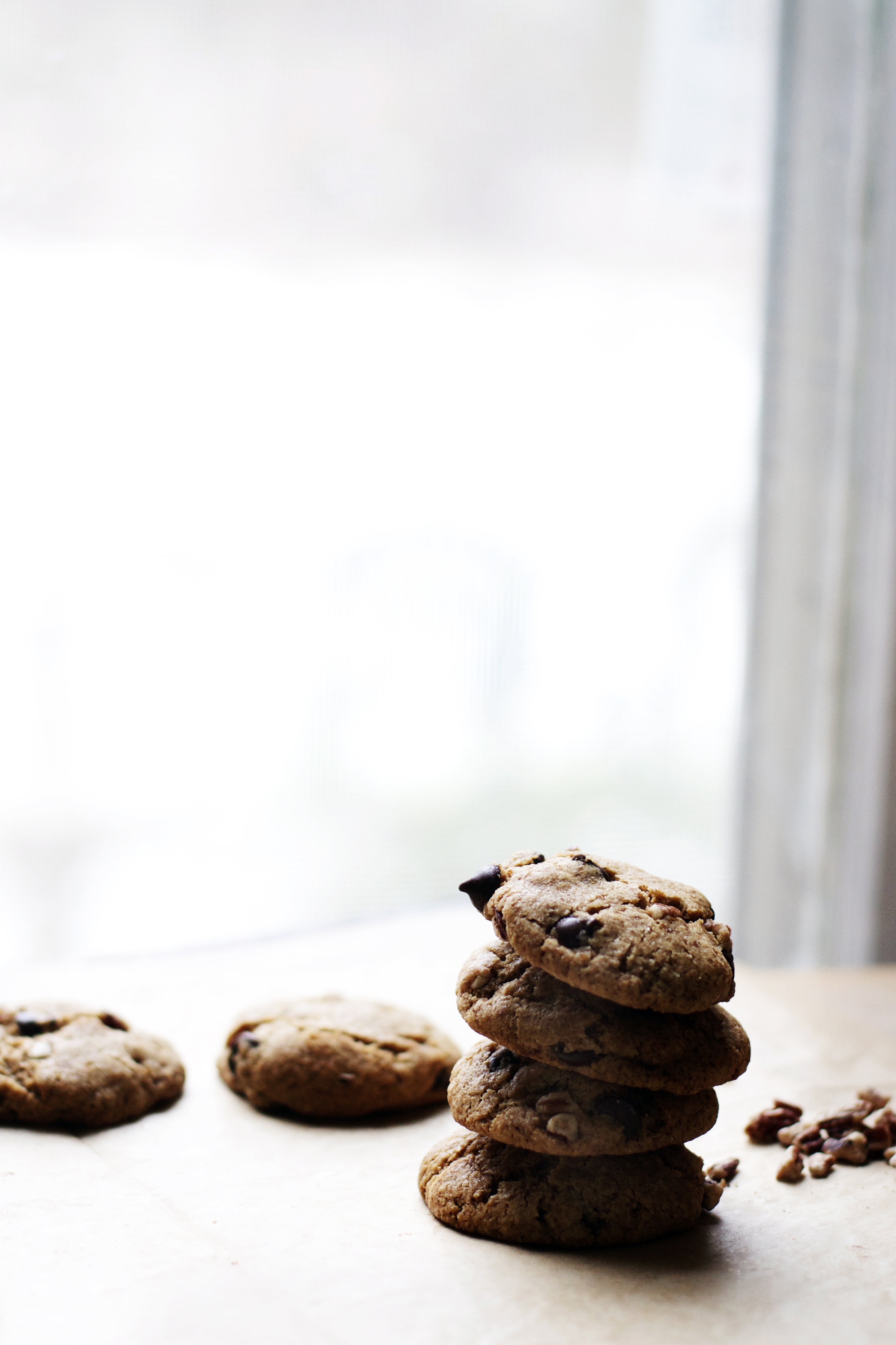 Chocolate Chip Spelt Cookies w/ Pecans + Orange {wheat free, dairy free} | Ruby Josephine
