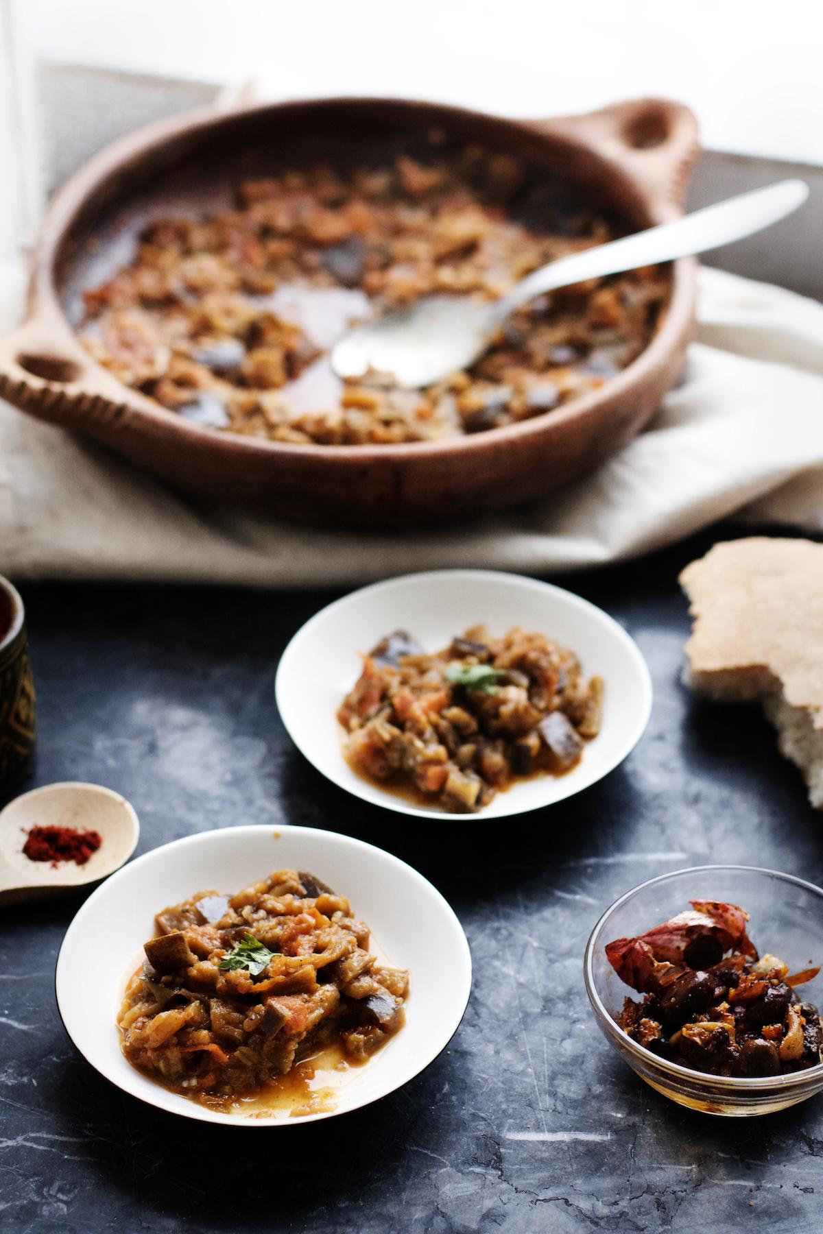 Zaalouk - Moroccan Eggplant Dip (vegan, gf) | Ruby Josephine