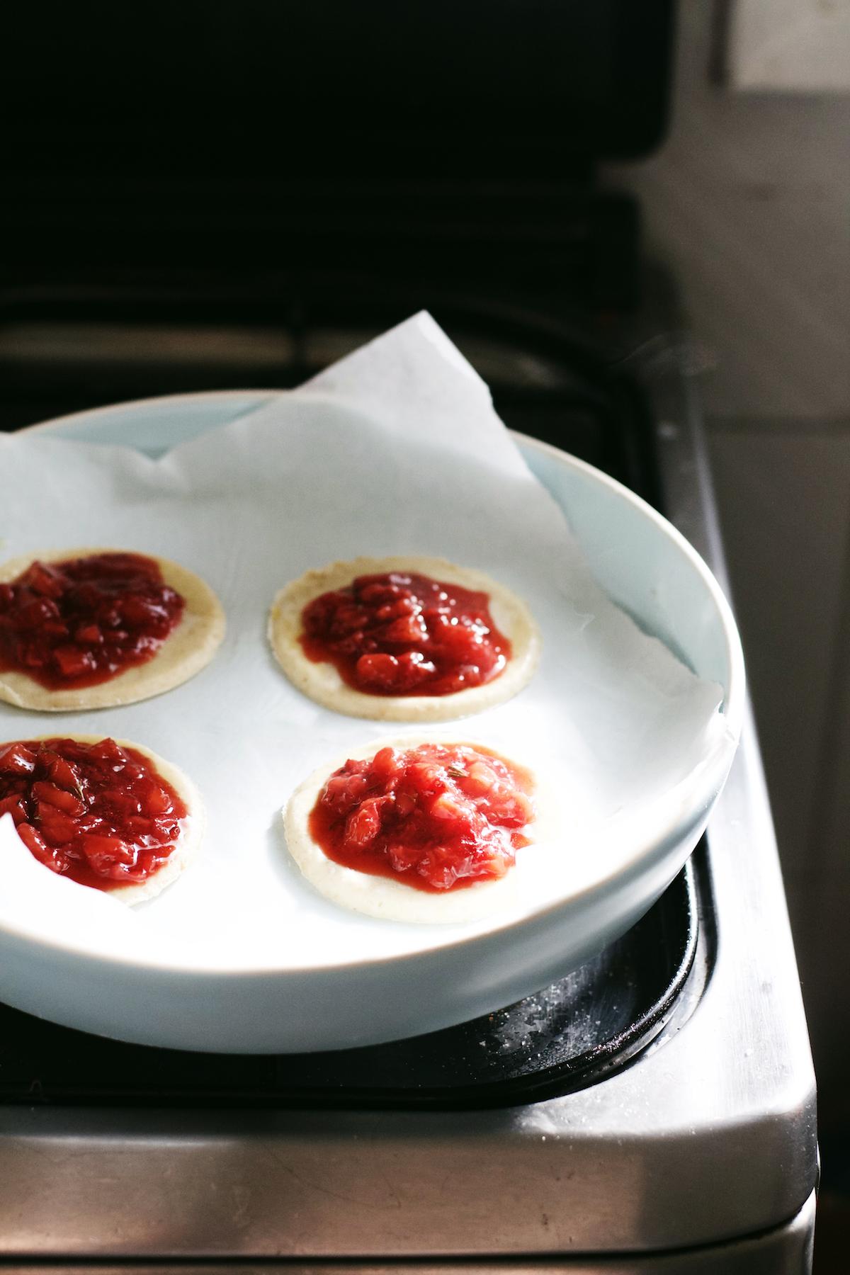 Strawberry Thyme Hand Pies | Ruby Josephine