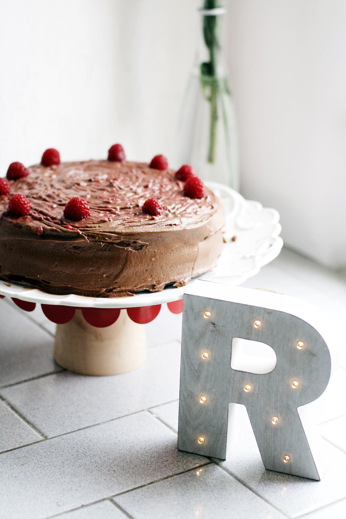Raspberry Mocha Cake | Ruby Josephine