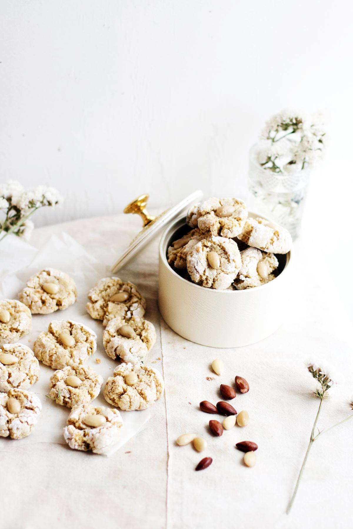 Moroccan Coconut + Almond Cookies, made w/ semolina and orange blossom | Ruby Josephine