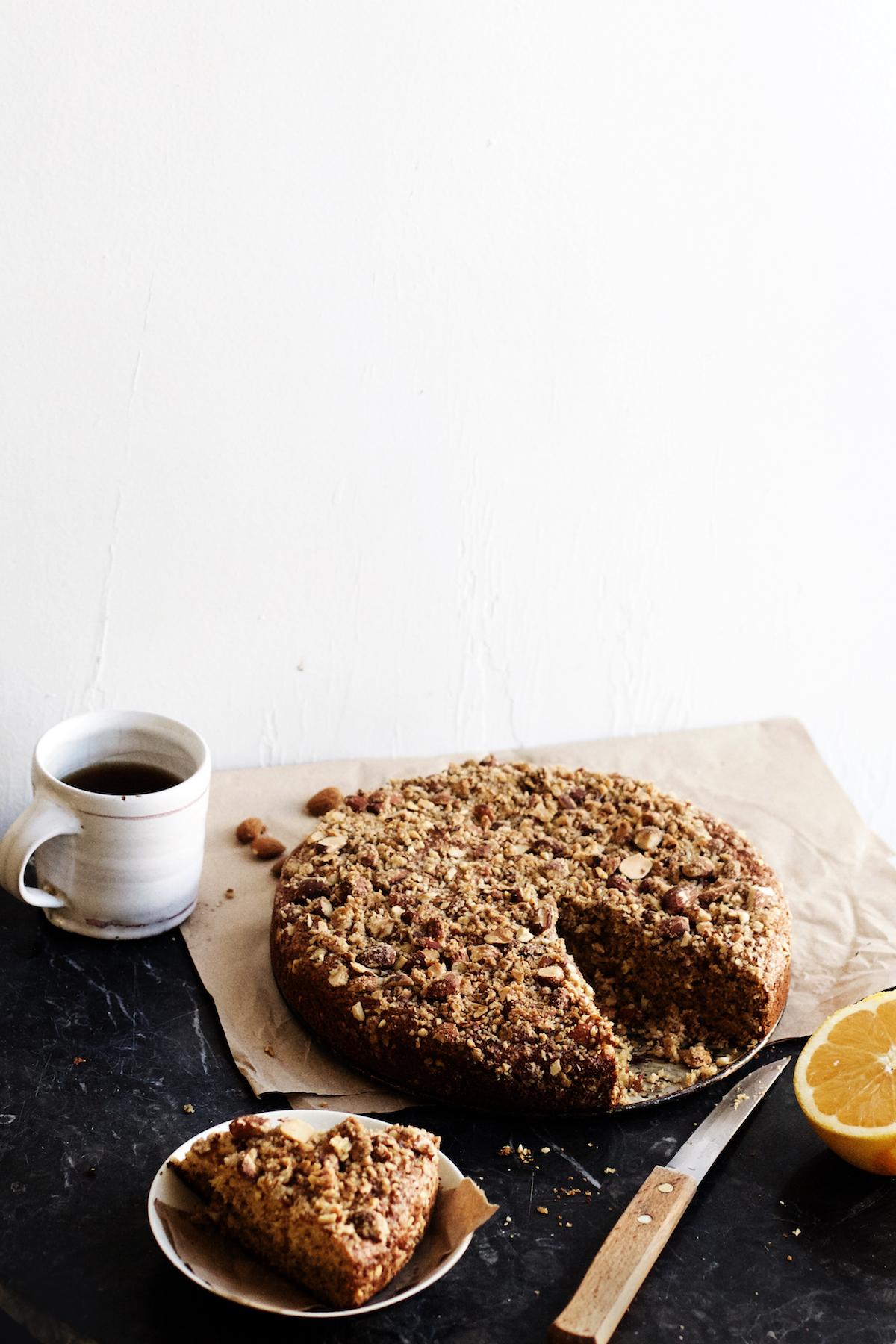 Orange + Almond Crumble Coffee Cake | Ruby Josephine