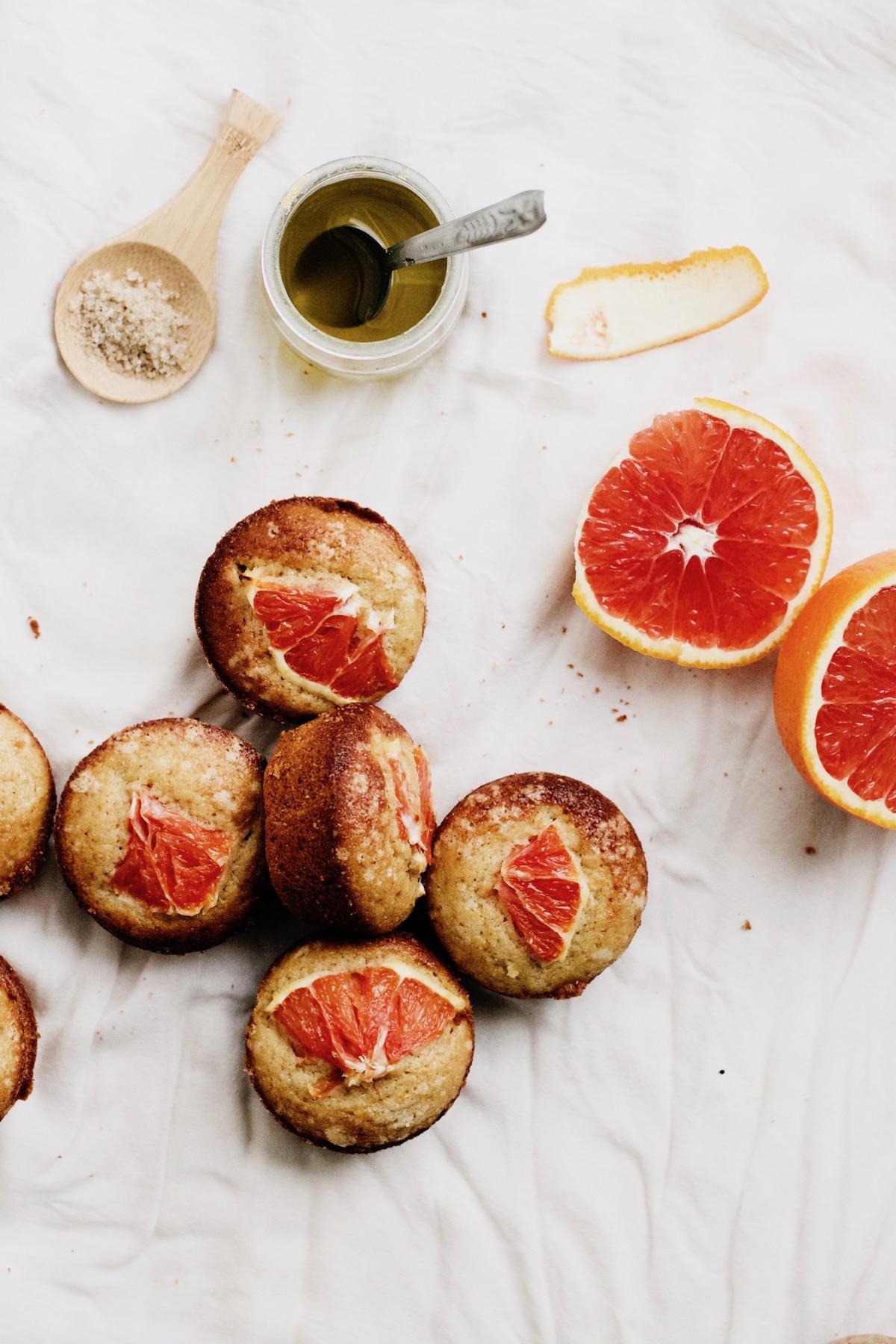 Whole Wheat Blood Orange + Olive Oil Muffins | Ruby Josephine