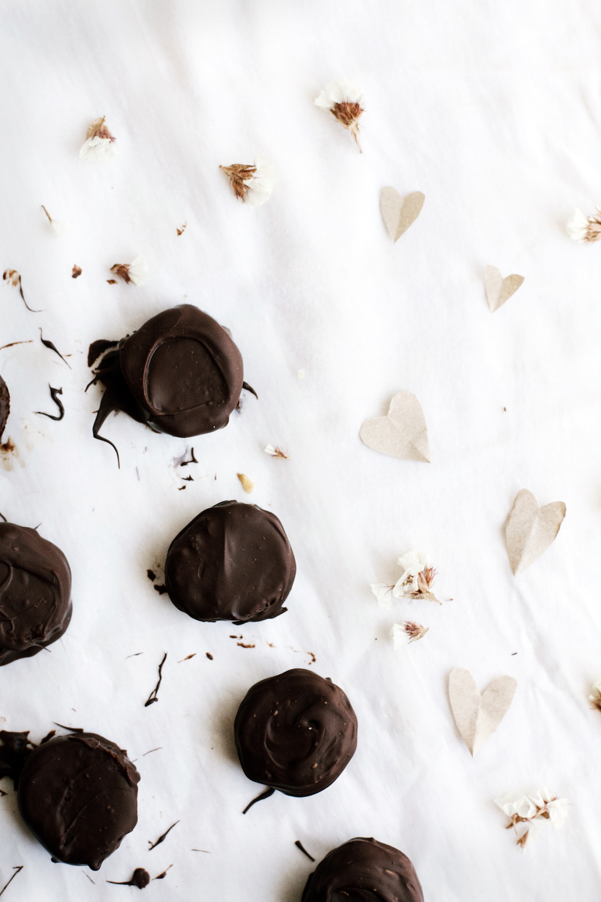Dark Chocolate + Orange Blossom Date Caramels