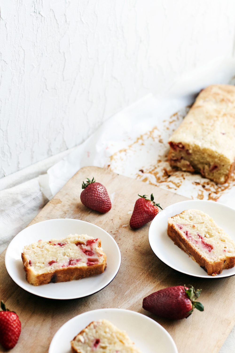 Strawberry Lemon Yogurt Cake {dairy free + vegan options} | Ruby Josephine