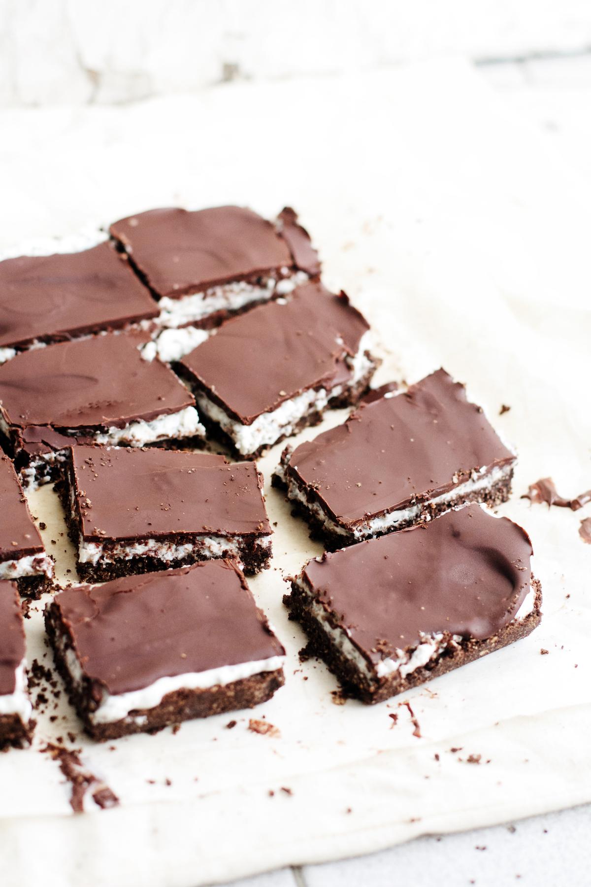 No-Bake Dark Chocolate Coconut Chia Bars {vegan, gluten-free, + almost raw}   Ruby Josephine