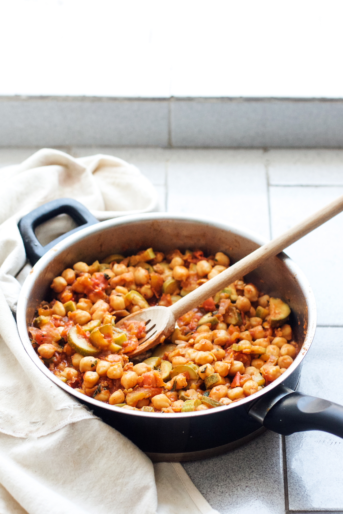 Summer Chickpea, Zucchini + Tomato Basil Stew {vegan + gf}   Ruby Josephine