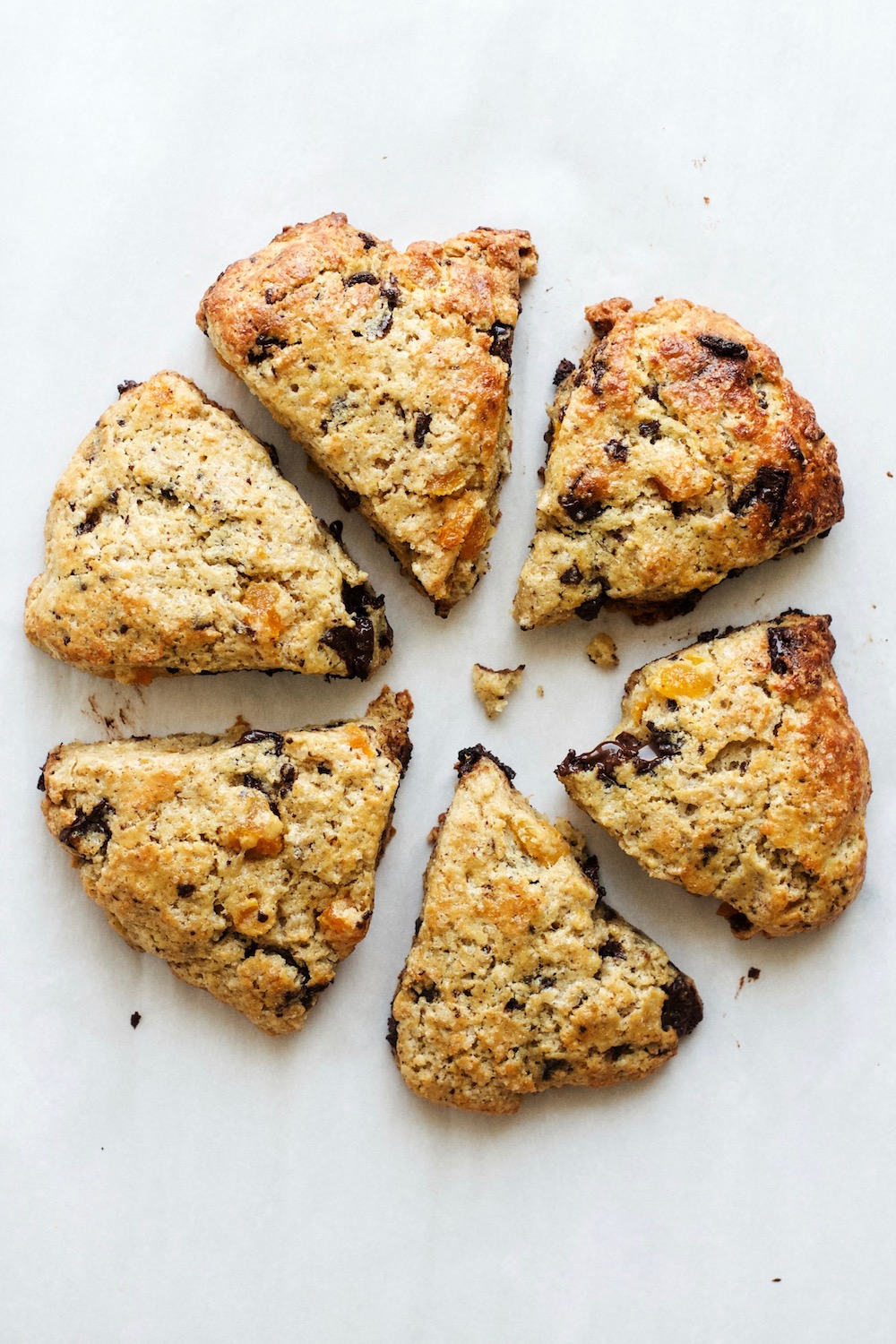 Dark Chocolate, Apricot + Cinnamon Scones | Ruby Josephine