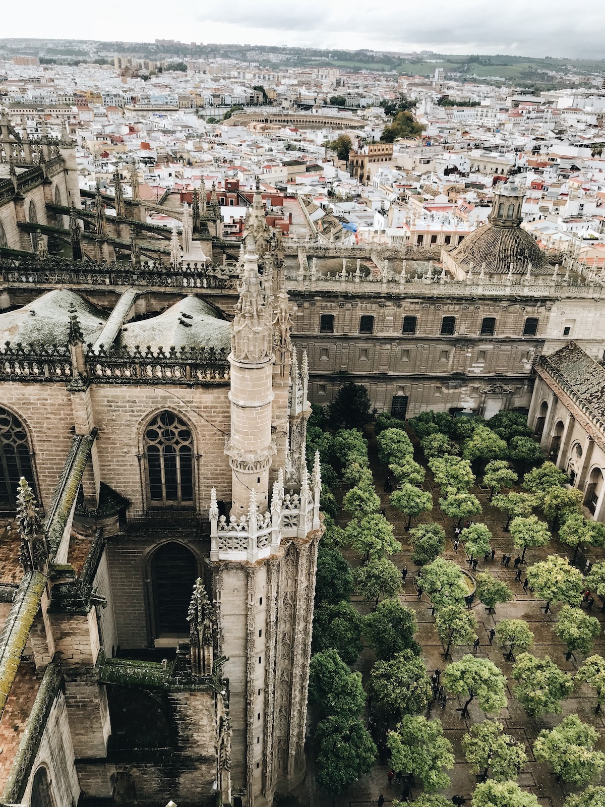 View from the top of La Giralda