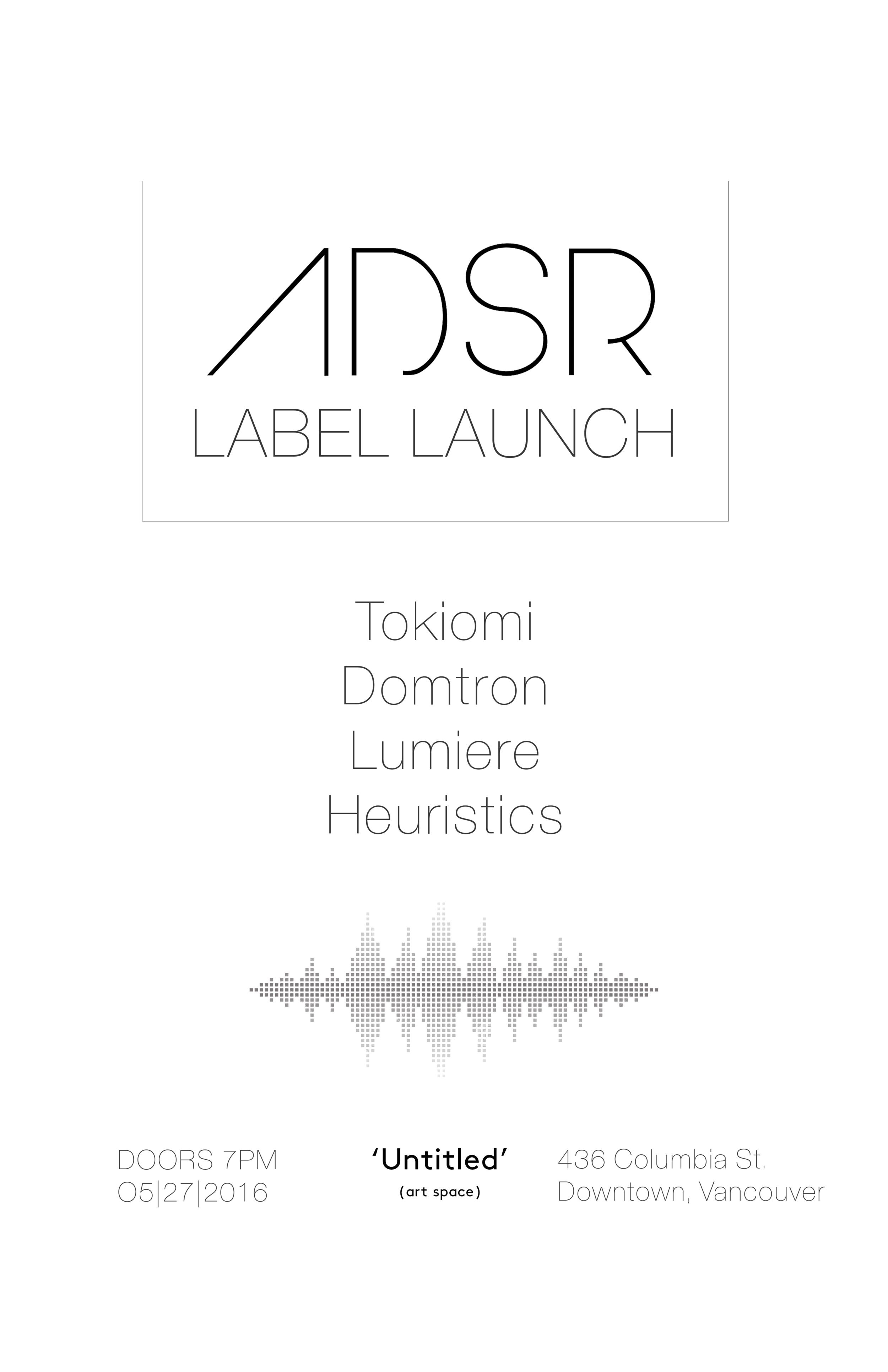 ADSR Label launch