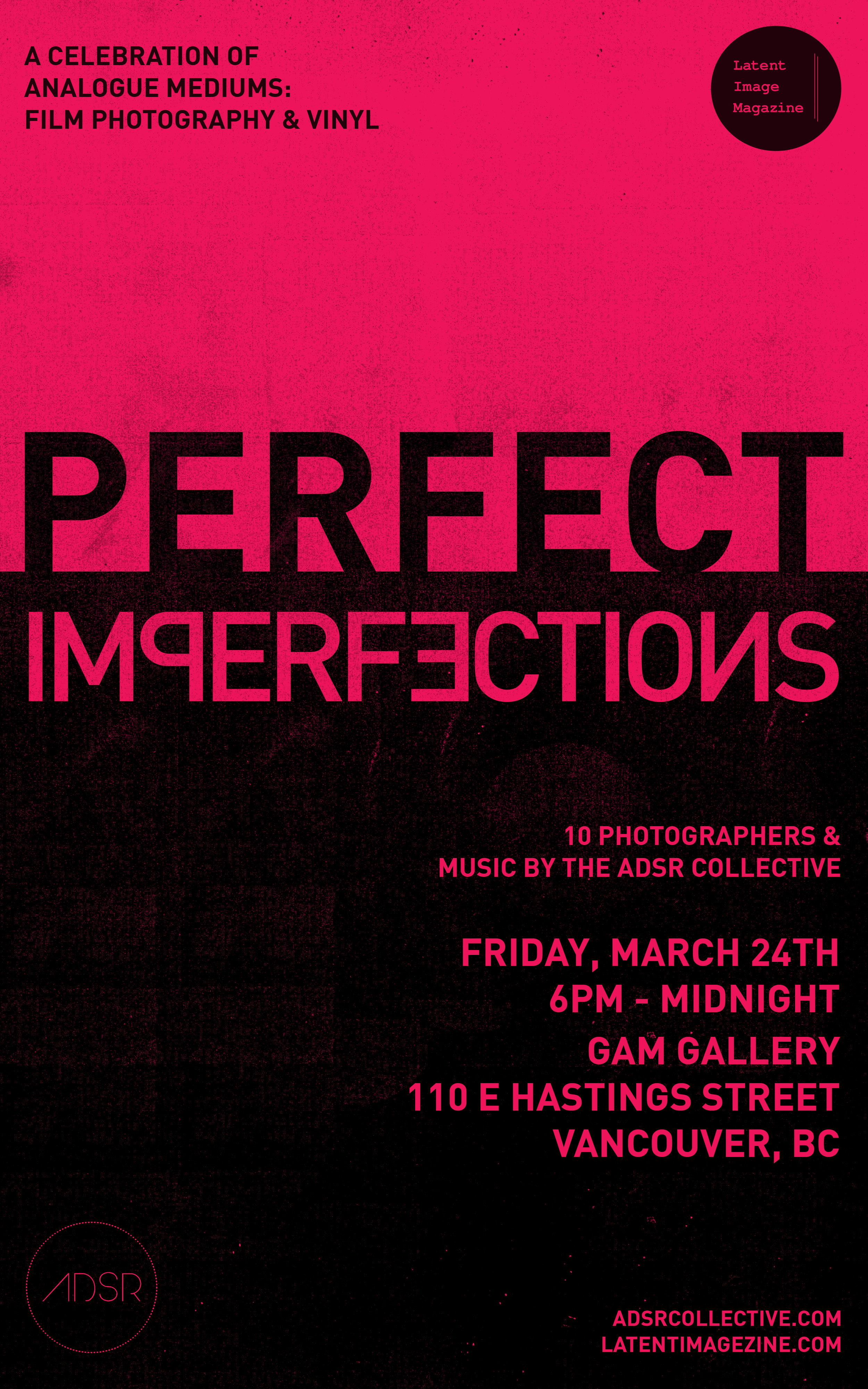 Friday March 20th @ Gam Gallery  110 East Hastings Vancouver BC, Canada