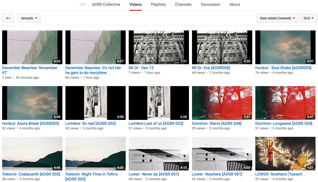 Full Discography of ADSR Collective Label Release available for streaming on Youtube
