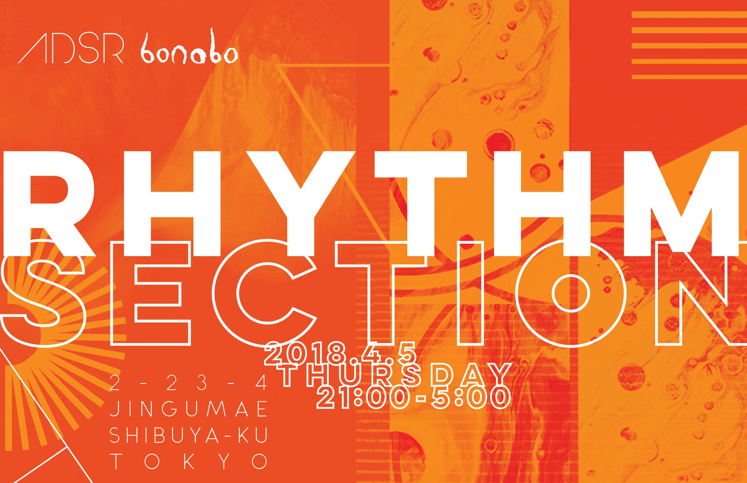 Thursday April 5th @ Bonobo  2-23-4 Jingumae Shibuya-ku Tokyo, Japan
