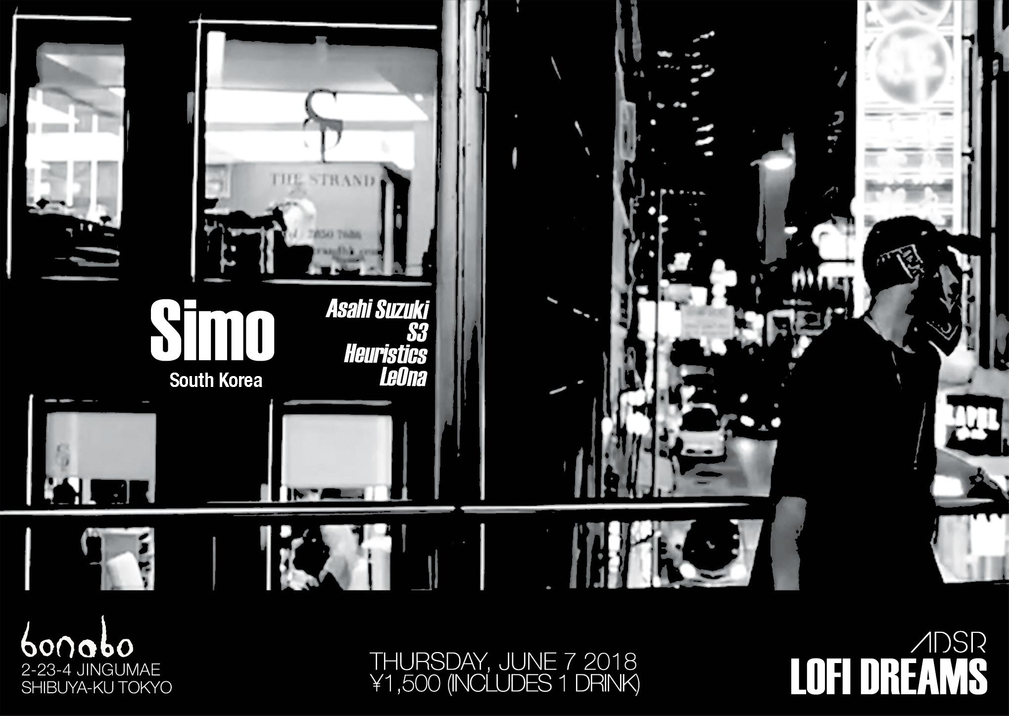 Thursday, June 7th @ Bonobo Bar  2-23-4 Jingumae Tokyo, Japan