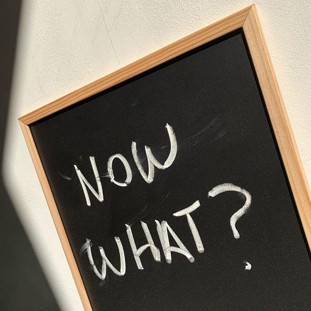 Good question. #dontjuststandtheredosomething #erm #allaboutaction #nowwhat #douglassday #creativeshop #mantra