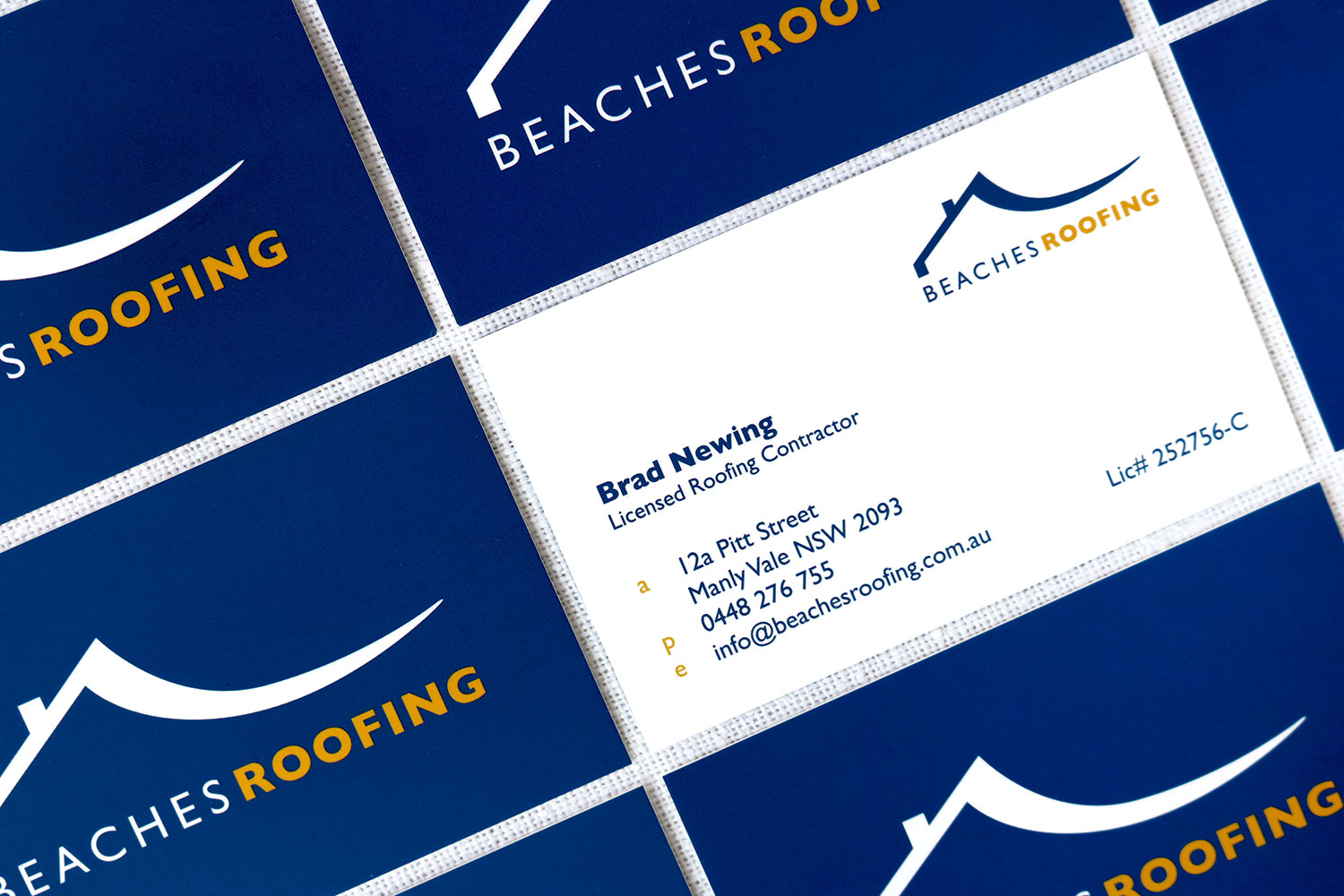 Beaches Roofing Business Cards