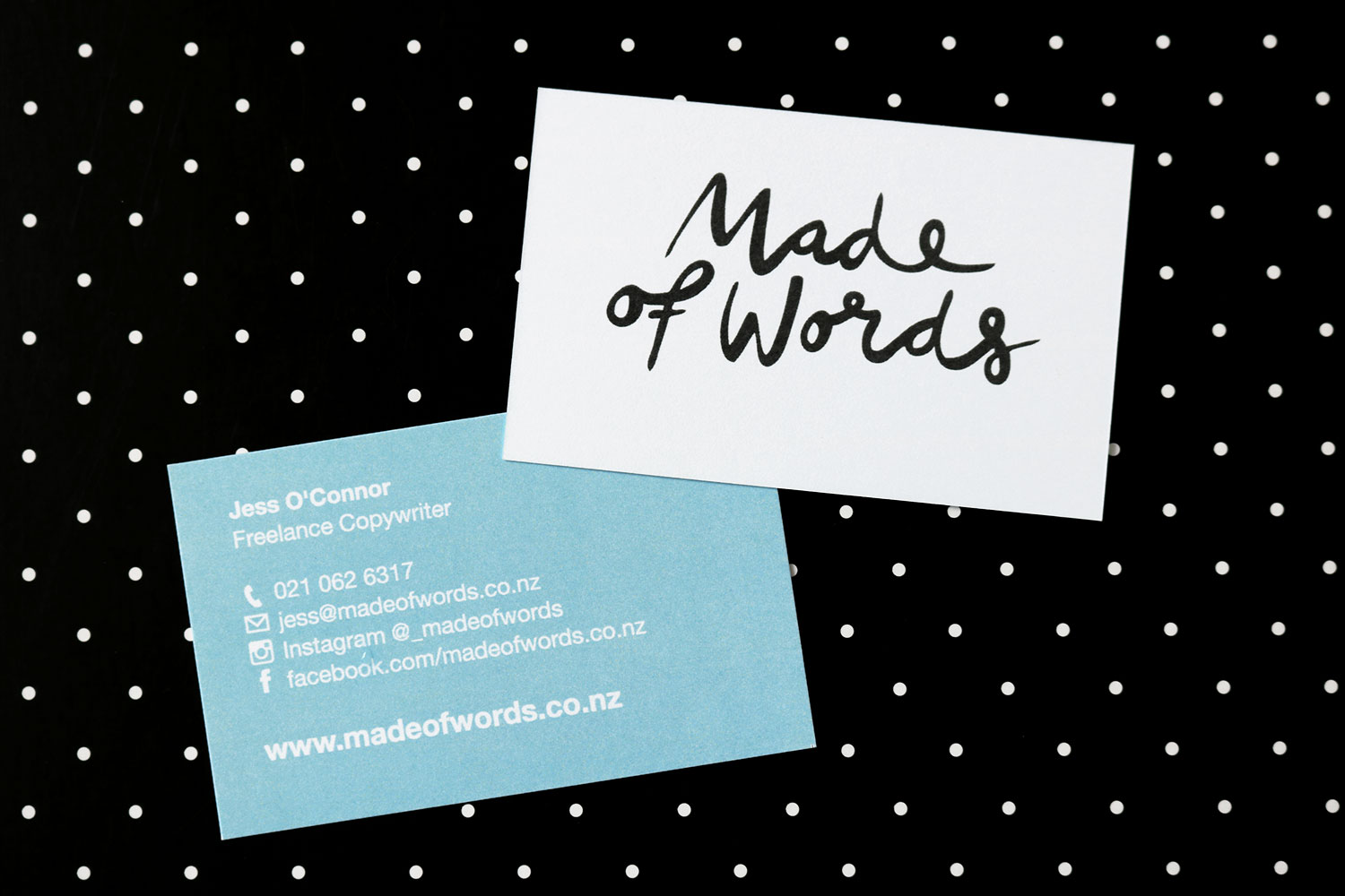 Made of Words Business Card