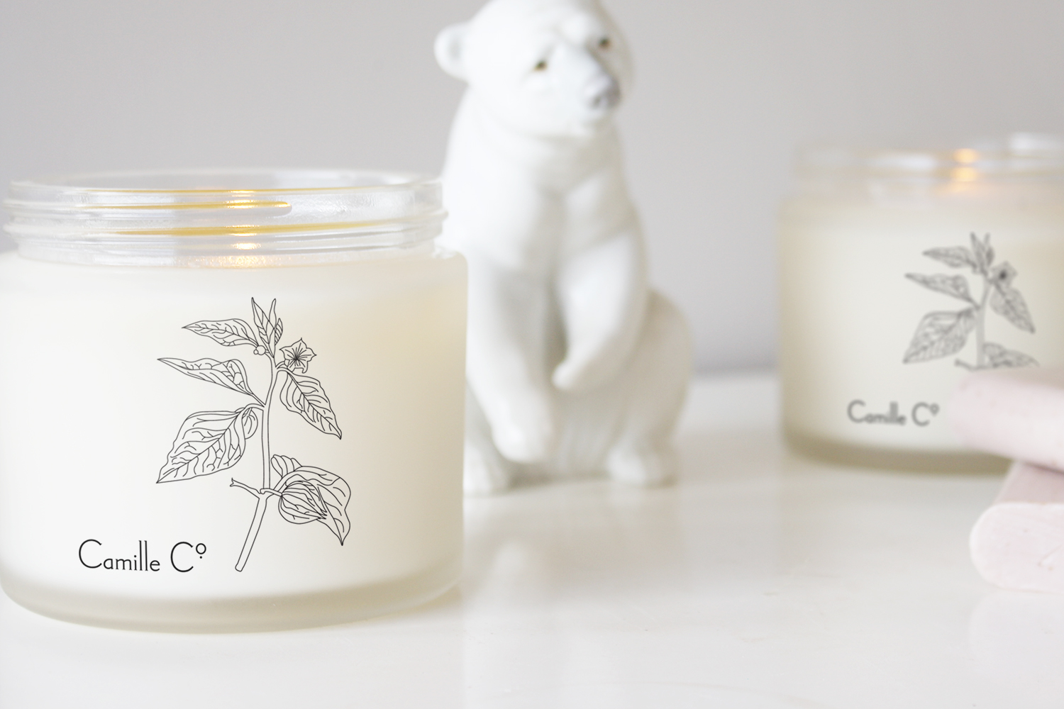 Cape Gooseberry & Musk Camille Co. Candle Packaging Design