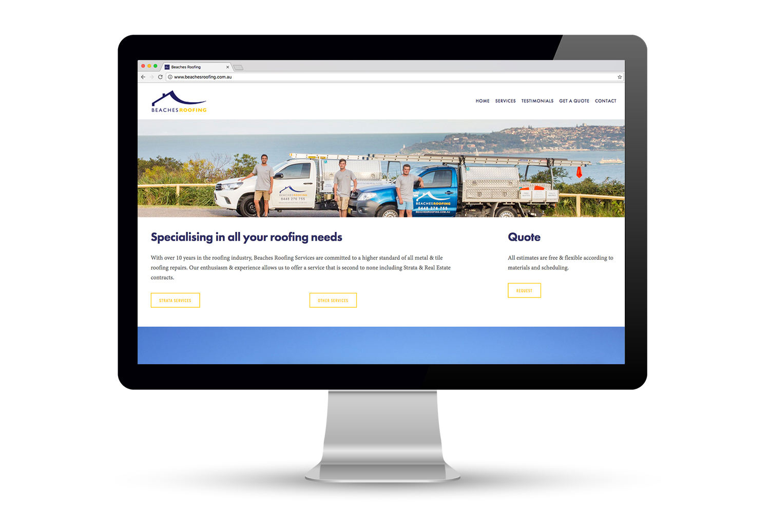 Beaches Roofing Website