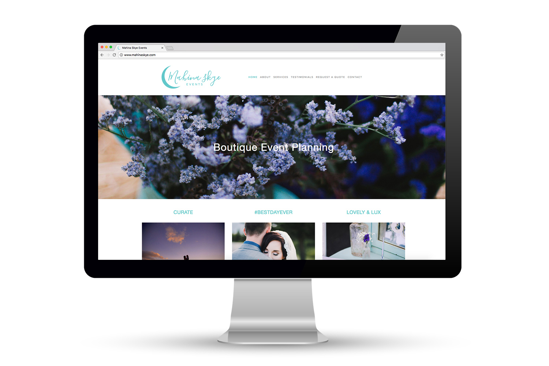 Mahina Skye Events Website Design