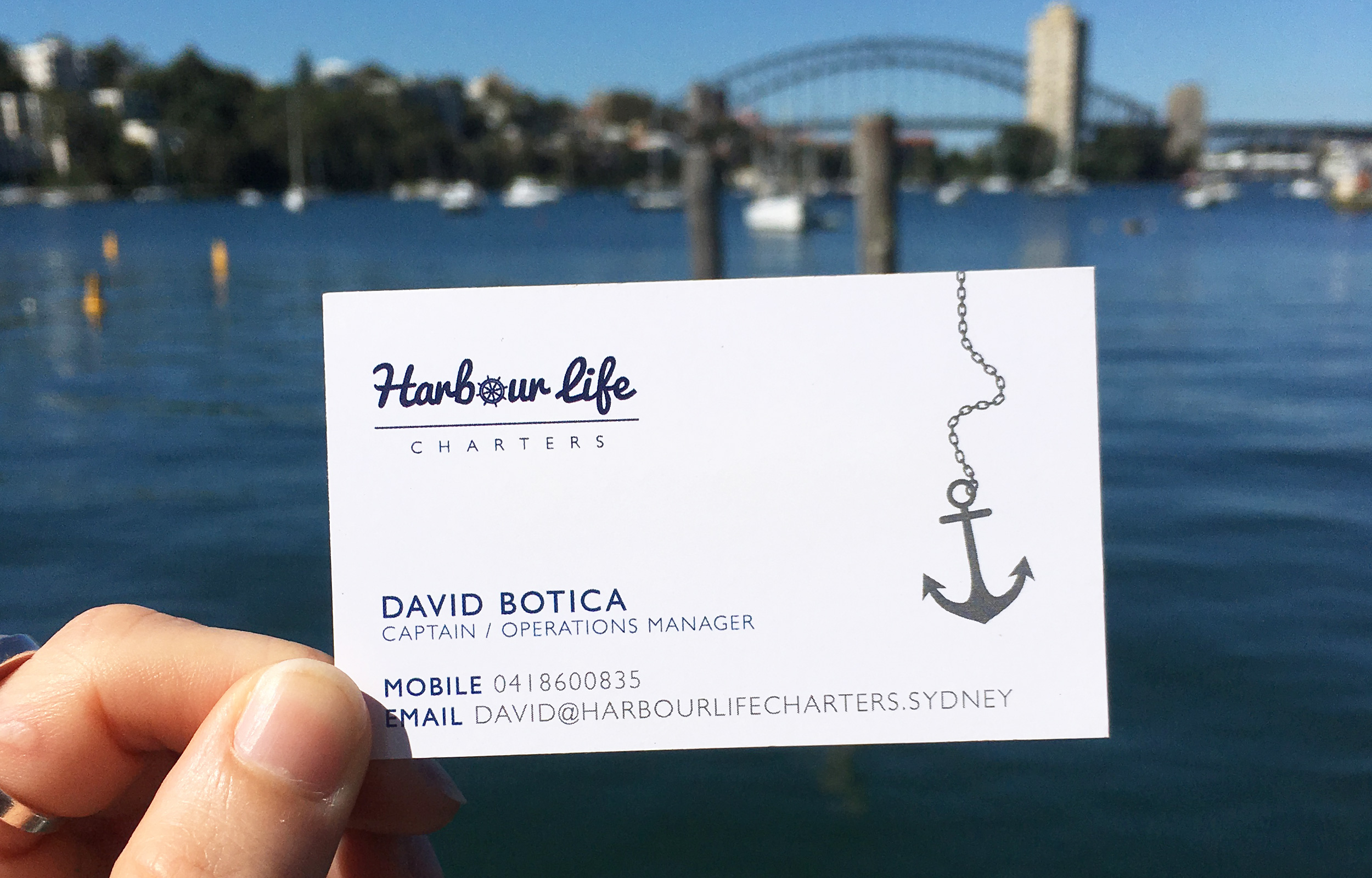 Harbour Life Charters Business Card