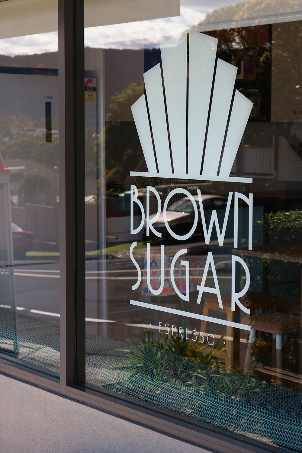 Brown Sugar Espresso exterior - Logo by Design by Cheyney