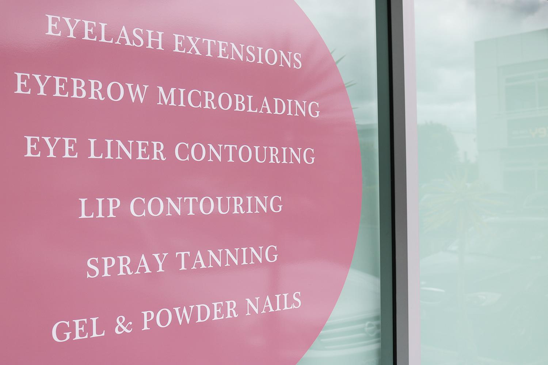 Auckland Lash & Brows Exterior Signage Design