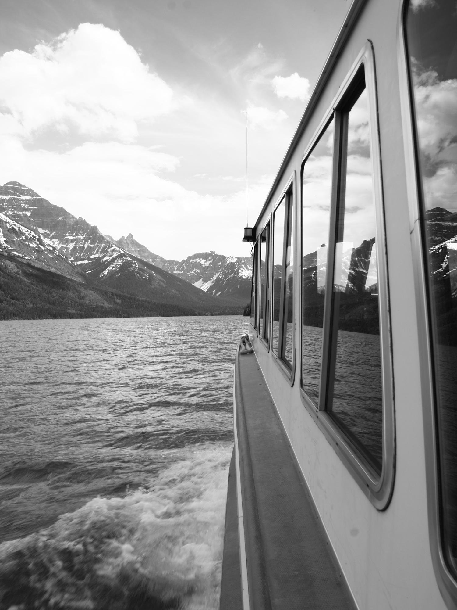 Boat Trip on Waterton Lake , Alberta Canada to Goat Haunt, Montana, USA