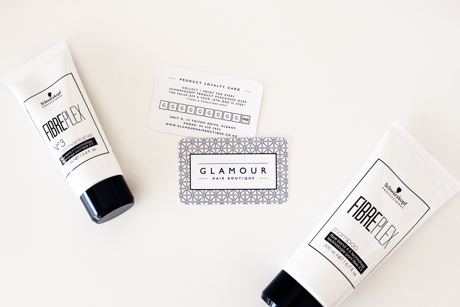 Glamour Hair Boutique Product Loyalty Cards