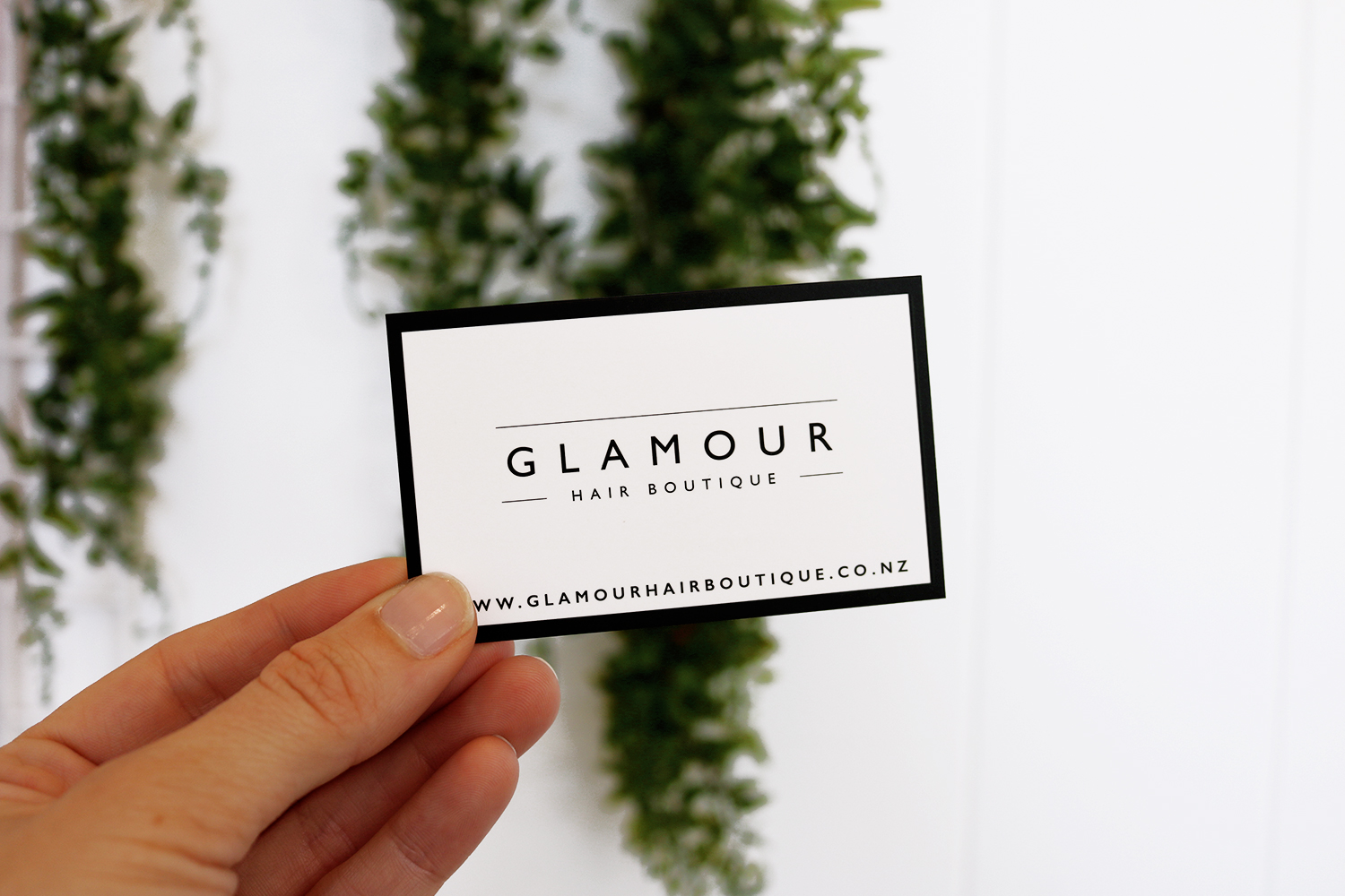 Glamour Hair Boutique Business Card Front